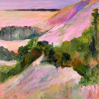 Roz Zinns, 'Hillside Outlook', 2007, original Painting Acrylic, 36 x 36  x 2 inches. Artwork description: 2703  California landscape is endless in its variety and is perfect for abstract interpretation.  The vistas and colors are glorious ...