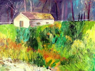 Roz Zinns, 'House In The Woods 2', 2010, original Painting Acrylic, 24 x 18  x 1 inches.
