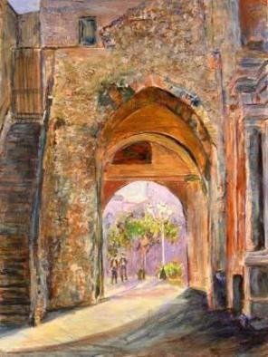 Roz Zinns, 'Italian Portal', 2006, original Painting Acrylic, 18 x 24  x 2 inches. Artwork description: 3495 If these walls could talk.  Painting of ancient structure which has been modified many times over the years.  The texture in the painting suggests the rough stones and pebbles used in the construction....