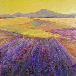 Roz Zinns; Lavender, 2010, Original Painting Acrylic, 20 x 20 inches. Artwork description: 241  Lavender fields in France ...