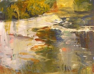 Roz Zinns, 'Morning Glow', 2006, original Painting Acrylic, 16 x 20  x 1 inches. Artwork description: 2307  The morning mist has risen, allowing the marvelous reflections and colors of the lake to appear. ...