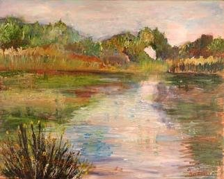 Roz Zinns, 'Morning At Heather Farms', 2005, original Painting Acrylic, 20 x 16  x 1 inches. Artwork description: 3495 Wonderful reflections on the water...