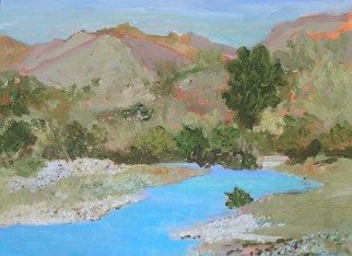 Roz Zinns, 'Niles', 2009, original Painting Acrylic, 18 x 14  x 2 inches. Artwork description: 2307  The stream at Niles Canyon ...