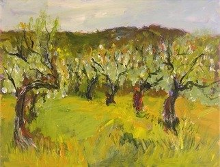 Roz Zinns, 'Old Vines', 2006, original Painting Acrylic, 14 x 11  x 1 inches. Artwork description: 3495  Old vines on a Spring day. ...