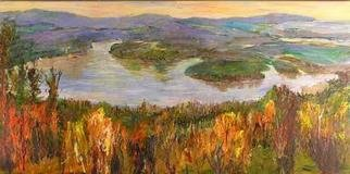 Roz Zinns, 'Orcas View', 2005, original Painting Acrylic, 36 x 18  x 1 inches. Artwork description: 3495 View from Orcas Island, Washington...