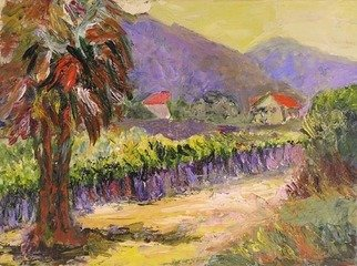 Roz Zinns, 'Sun In The Vineyard', 2006, original Painting Acrylic, 16 x 12  x 1 inches. Artwork description: 3495  The California vineyards are alive with color and evoke a feeling of renewal. ...