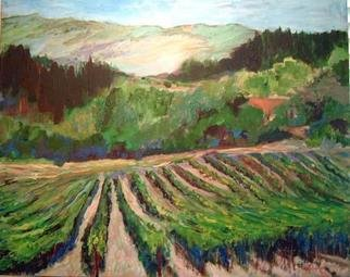 Roz Zinns, 'Vineyards', 2004, original Painting Acrylic, 36 x 24  x 1 inches. Artwork description: 3495 Lush California vineyards...