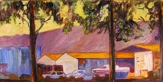 Roz Zinns, 'Warehouses', 2005, original Painting Other, 36 x 18  x 1 inches. Artwork description: 2703 Warehouses adjacent to a park...