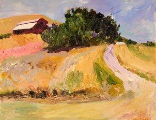 Roz Zinns, 'Warm Afternoon', 2008, original Painting Acrylic, 20 x 16  x 1 inches. Artwork description: 2703  Barn and trees at the top of a hill on a warm, lovely day ...