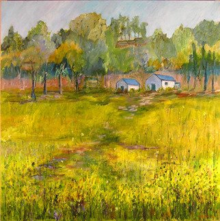 Roz Zinns, 'Wild Mustard', 2007, original Painting Acrylic, 36 x 36  x 2 inches. Artwork description: 2307  Mustard in bloom in the Spring. ...