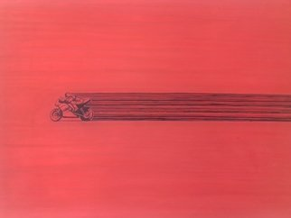 Robert Jessamine; Acceleration, 2017, Original Painting Acrylic, 40 x 30 inches. Artwork description: 241 abstract based on an accelerating motorcycle...