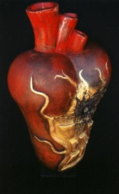 Raquel Soaz; Entrada Forzosa, 2001, Original Ceramics Handbuilt, 10 x 16 inches. Artwork description: 241 Hand built using low fire clay and pit fired. ...