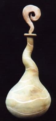 Raquel Soaz; Vase, 2000, Original Ceramics Handbuilt, 5 x 12 inches. Artwork description: 241 Hand built using low fire clay and pit fired. ...