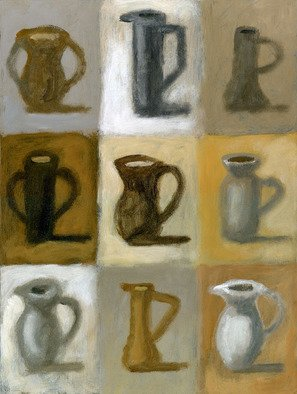 Alberto Ruggieri; Pitchers, 2006, Original Painting Acrylic, 35 x 50 cm. Artwork description: 241  module, decorative, brown, interior decoration ...