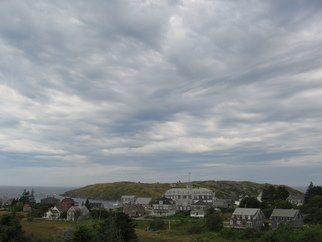 Ruth Zachary; Monhegan Village Clouds, 2012, Original Photography Color, 8 x 10 inches.