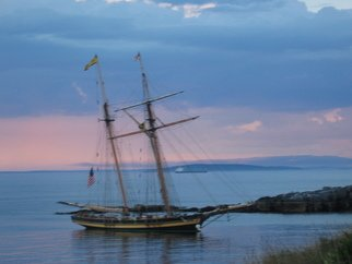 Ruth Zachary; Schooner At Twilight, 2012, Original Photography Color, 8 x 10 inches.
