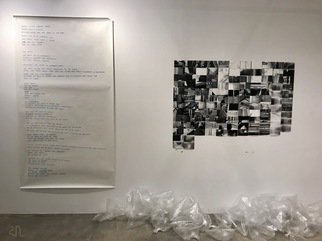 Ruzanna Hanesyan; Group Project, 2018, Original Installation Indoor, 74 x 86 inches. Artwork description: 241 In this group Project we explored Downtown through smell.  We took photographs of spacescorners, streets, etc.  that have a smell and captured in plastic bags.  At the end we wrote a short poetry about our experience.  The work was presented in the Main Museum.  ...
