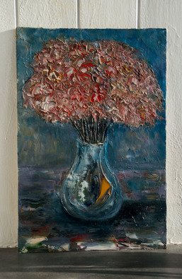 Anna Riazantceva; Flowers In A Vase, 2016, Original Painting Oil, 40 x 60 cm. Artwork description: 241 Still life.Painting on canvas. canvas on cardboardOil painting. ...