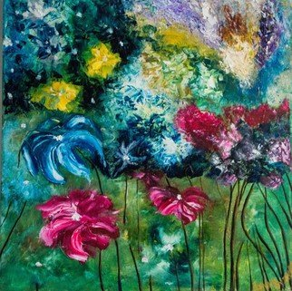 Anna Riazantceva; Magical Flowers, 2017, Original Painting Oil, 56 x 56 cm. Artwork description: 241 oil paintingpainting on canvasabstract flowers...