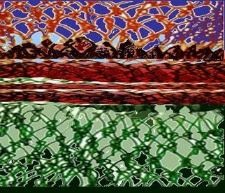 Sabina Ivascu; Knot Rezolution, 2005, Original Digital Art, 9.7 x 8.3 inches. Artwork description: 241  shopping bag landscape ...