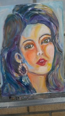 Salah Shahin; Cute Girl, 2018, Original Painting Oil, 30 x 40 cm. Artwork description: 241 30 40 new oil painting canvas...