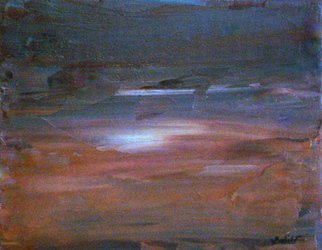 Gopal Weling; Monsoon12, 2008, Original Painting Oil, 10 x 8 inches.
