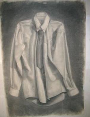 Salvatore Victor; Sans Hanger, 2005, Original Drawing Charcoal, 30 x 40 inches. Artwork description: 241 charcoal on rives b. f. k. ...
