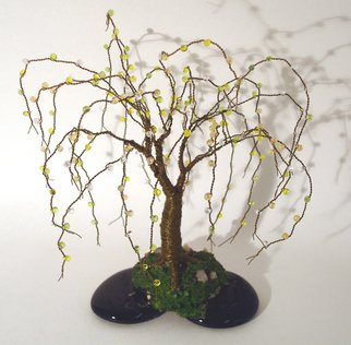 Sal Villano; Beaded on Black Base Wire..., 2011, Original Sculpture Mixed, 6 x 8 inches. Artwork description: 241  Beaded on Black Base - Wire Tree Sculpture Beaded Wire Tree Sculpture. 8