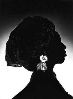 Sam Smith; Crown Of Africa, 1970, Original Photography Black and White, 29 x 40 cm. Artwork description: 241 This work considers the oft underestimated power and influence of the women in African societies, where sovereignty of the crown ( usually afforded the male) is of the highest order. Due to the lighting, the specific identity of the sitter is hidden, thereby rendering her as a symbol, ...