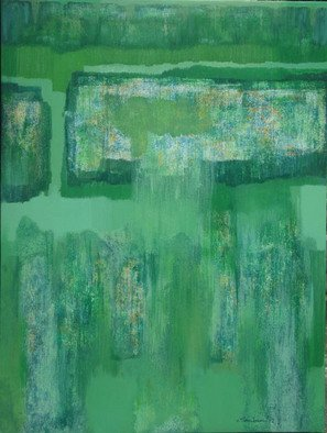 Samiran Chowdhury; Green For Global, 2012, Original Painting Acrylic, 48 x 36 inches. Artwork description: 241  We need to plant way more than we cut to protect our planet against Global Warming. We must aware the people around the world about this.  ...