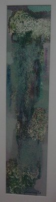 Samiran Chowdhury; Nature 2, 2012, Original Painting Acrylic, 7 x 30 inches. Artwork description: 241  Green moss ...