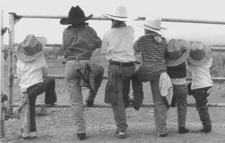 Sam Mcgarrell; Wildbunch, 2003, Original Photography Black and White, 14 x 11 inches. Artwork description: 241 b& w photo mounted 16x20...