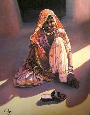 Santiago Carralero; The Light Of India, 2010, Original Painting Oil, 81 x 100 cm. Artwork description: 241   One more of the Nomadic People collection of this author, this work reflects the life in the slums of gypsy people.    ...