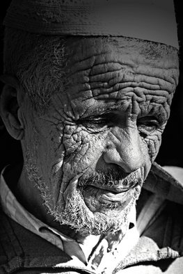 Sandia Mar; Life Story, 2007, Original Photography Black and White, 30 x 40 cm. Artwork description: 241  In the intricate lines of face lie so many stories, secrets, experiences. However, they all match and create a harmonious story with satisfied spirit. ...