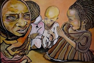 Sandi Carter Brown; WE ARE Children Of Darfur, 2006, Original Painting Acrylic, 36 x 30 inches. Artwork description: 241                 Commissioned art               ...