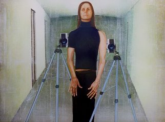 Sandra Maarhuis; Me At My Place, 2007, Original Painting Oil,  110 cm. Artwork description: 241  Selfportrait ...