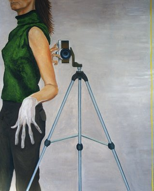 Sandra Maarhuis; No Title 1, 2008, Original Painting Oil,  100 cm. Artwork description: 241  Selfportrait ...