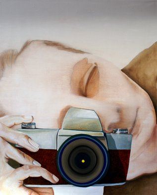 Sandra Maarhuis; No Title 3, 2008, Original Painting Oil,  100 cm. Artwork description: 241 Selfportrait ...