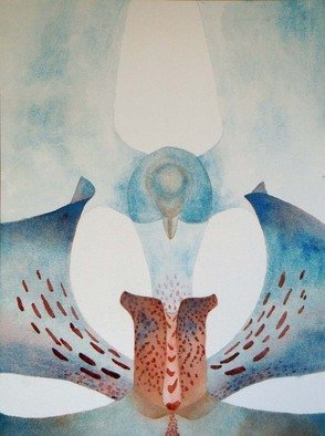 Sarah Longlands; Hawk 0r Dove, 2011, Original Watercolor, 53 x 73 cm. Artwork description: 241 painted on 850gsm Arches paper ...