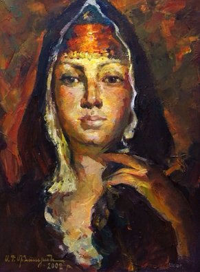 Sar Gallery; Armenian Girl, 2002, Original Painting Oil, 30 x 40 cm. Artwork description: 241 Artist - Sergey Minasyan...