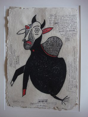 Saroj Singh; U, 2012, Original Drawing Other, 40 x 58 cm. Artwork description: 241   I never considered my art finished.     ...