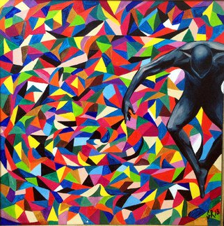 Sasha Robinson; Spirit Superiority 1, 2014, Original Painting Oil, 70 x 50 cm. Artwork description: 241  This work is about the superiority over the circumstances. This piece is exhibited at Mountain Olympic Village Sochi 2014 ...