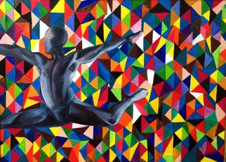 Sasha Robinson; Spirit Superiority 2, 2014, Original Painting Oil, 70 x 50 cm. Artwork description: 241  This work is about the superiority over the circumstances. This piece is exhibited at Mountain Olympic Village Sochi 2014  ...