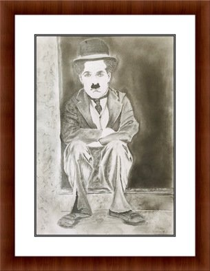 Shelton Barnes; Charlie Chaplin, 2020, Original Drawing Graphite, 16.5 x 23.4 inches. Artwork description: 241 This piece of Charlie Chaplin is done on a A2 size paper using graphite. Sold without frame. ...