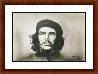Shelton Barnes; Che Guevara, 2020, Original Drawing Graphite, 11.7 x 16.5 inches. Artwork description: 241 This is the best image of Che ever available.  I did this on 180 gsm A3 sized paper. ...