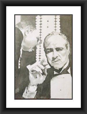 Shelton Barnes; The Godfather, 2020, Original Drawing Graphite, 16 x 23 inches. Artwork description: 241 This is the best image of Vito Corleone from the movie Godfather, very beautiful, intense and powerful.  I did this on a 180 gsm A2 sized paper using graphite.  Sold without frame. ...