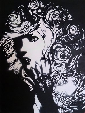 Simon Brown; Roses Are Red, 2015, Original Other, 30 x 40 cm. Artwork description: 241  Experimentation with varied stencil cutting techniques to produce a distinct piece with lots intricate areas. ...