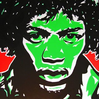 David Mihaly; Are You Experienced, 2009, Original Painting Acrylic, 20 x 20 inches. Artwork description: 241  Jimi Hendrix Are You Experienced...