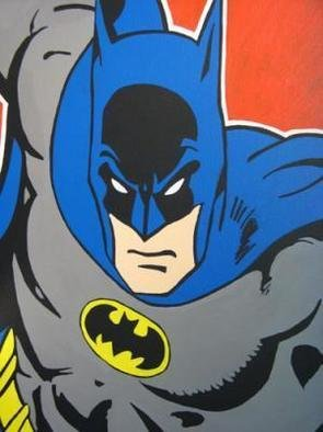 David Mihaly; Batman, 2008, Original Painting Acrylic, 18 x 24 inches. Artwork description: 241  Pop portrait of Batman ...