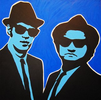 David Mihaly; Blues Brothers, 2009, Original Painting Acrylic, 20 x 20 inches. Artwork description: 241  Blues Brothers ...
